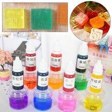 8 цветов 10 мл ручной работы мыло краситель пигментная жидкость цвет муравей набор инструментов ручной работы мыло материалы основа цвет Жидкое Мыло DIY пигмент набор