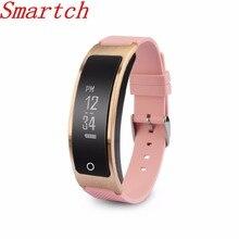 Smartch 2017 I8 Смарт Браслет Водонепроницаемый браслет сердечного ритма Мониторы Приборы для измерения артериального давления Фитнес Tracker Часы для IOS Android PK Huawei