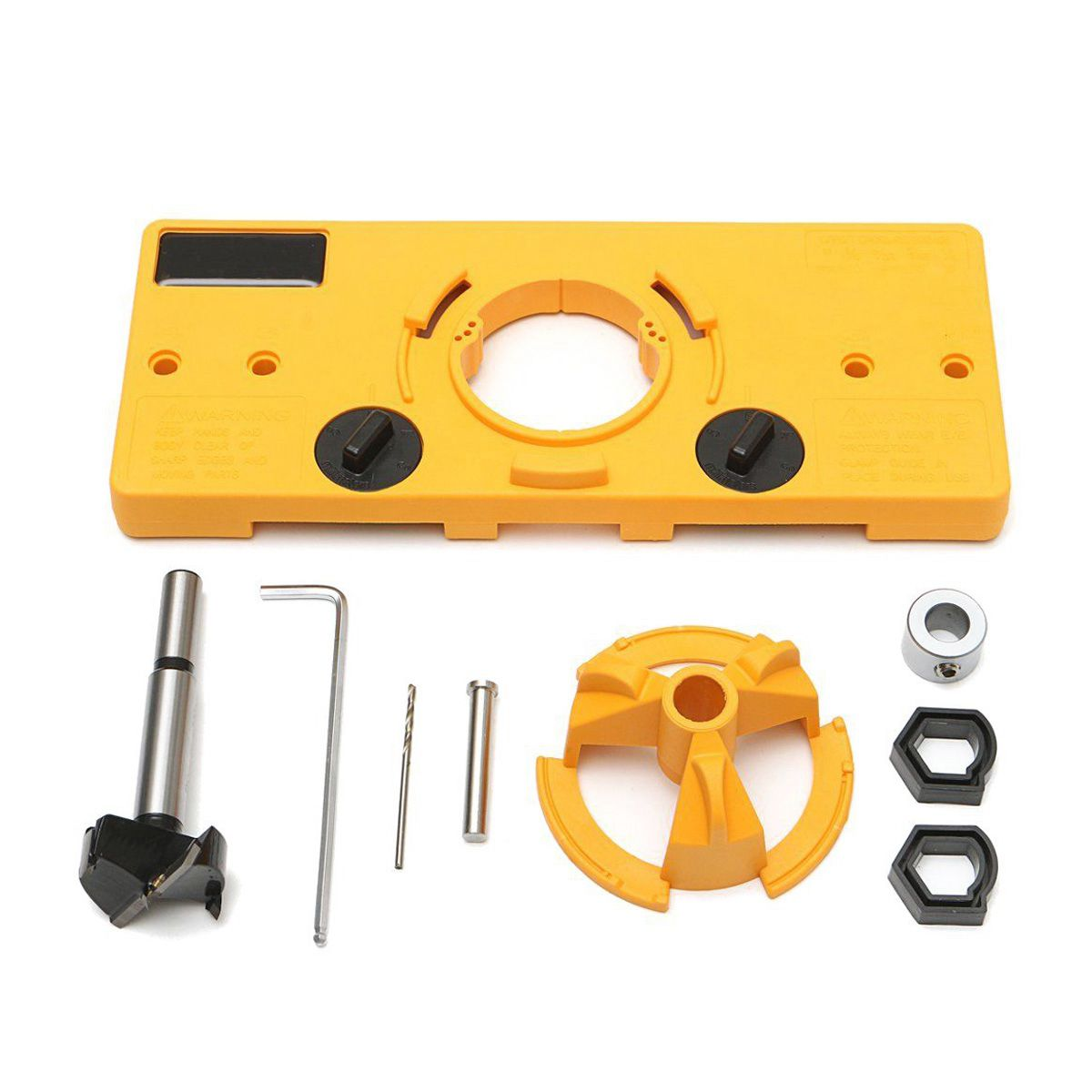 35MM Cup Style Hinge Boring Jig Drill Guide Set Door Hole Template For Kreg Tool Hole Locator Limit Ring Hole Knife Wrench Tools 35mm cup style hinge drill bit boring guide door hole drill locator jig drill guide for kreg tools diy woodworking drill tool