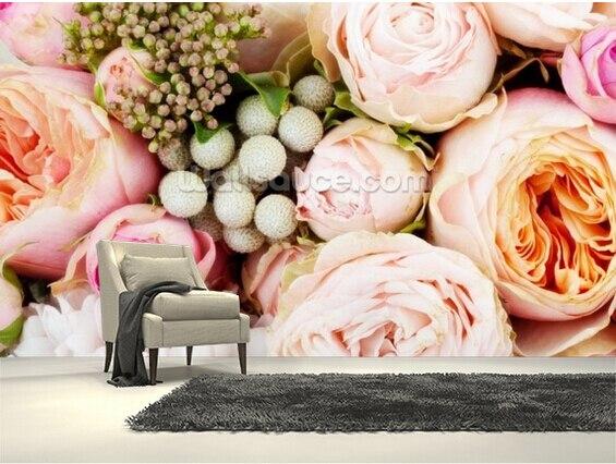 Niestandardowe Kwiatowy Tapety Romantyczny Bukiet Róż 3d