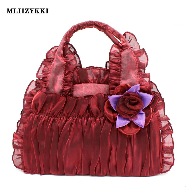 MLIIZYKKI Lace Flower Handbags Women Shoulder Bag Spring Casual Hobos Tote mliizykki lace flower handbags women shoulder bag spring casual hobos tote