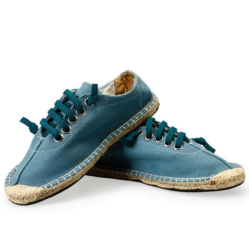 Chaussures Spécial Beige Espadrilles Casual Bout Coudre Corde À Respirant De D'été bleu Toile 2017 Hommes Homme Lacent wzII1Z