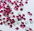 Super Brillante SS3-SS34 Rose Red Glitter Opal Color 3D Nail Art Decoraciones Flatback Hotfix Strass Piedras