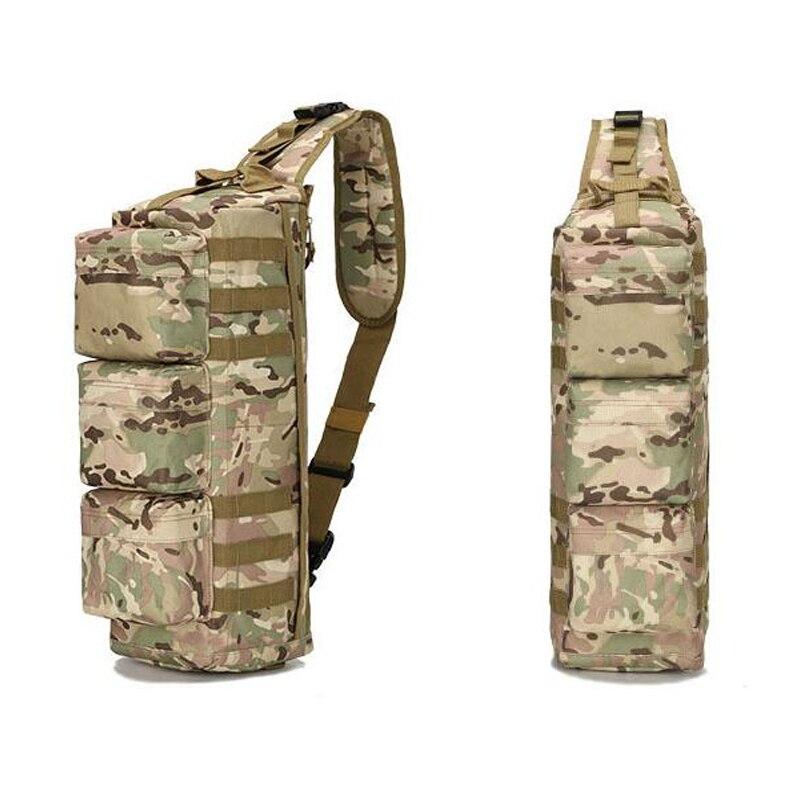 Sac à bandoulière de pêche en plein air tactique Camouflage militaire sac à dos à une épaule sac de Sport 6 couleurs