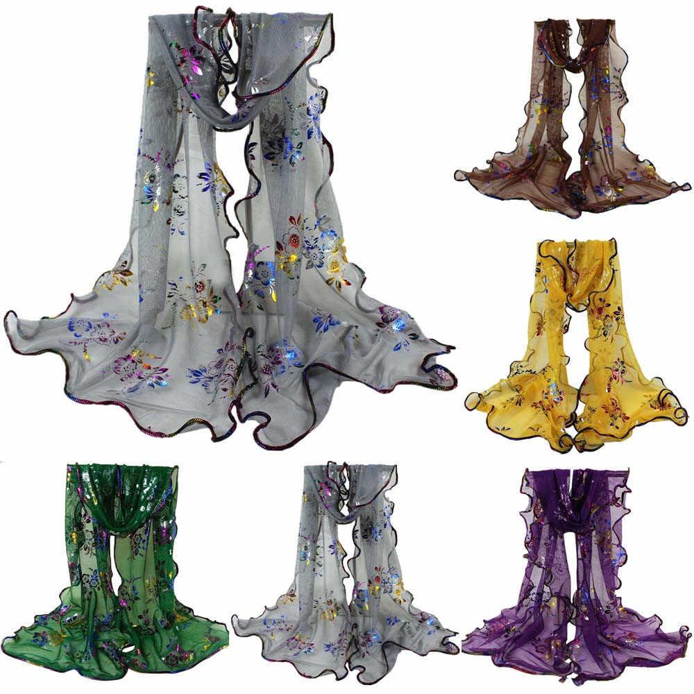 正方形のスカーフ絹のスカーフロングソフト薄型ラップシフォンビーチ固体キャンディーカラーロングスカーフ Echarpes Foulards ファム # YL2