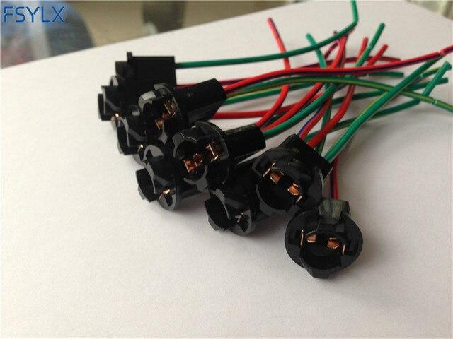 FSYLX T10 Prise W5W 501 505 507 Cale Porte-Ampoule Prise 194 186 voiture LED 501 T10 DOUILLE ampoule adaptateur connecteurs