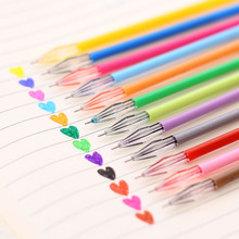 12 PCS/Lot Diamond Head Refill Creative Stationery Candy Color Gel Pen The Core 0.38mm for Writing Office School Supplies