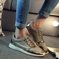 2016 brand new design women casual shoes European style black gold silver color available sport comfort shoes DT374