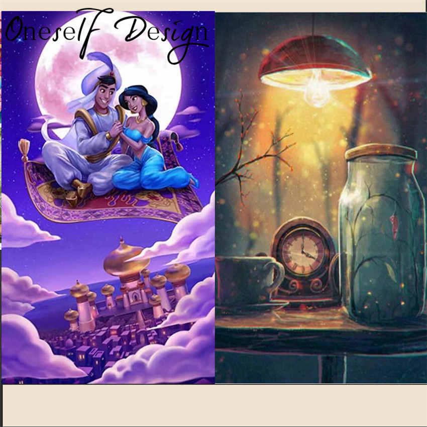 Volhardend 5d Diamant Borduurwerk Volledige Set Cartoon Klok Diamond Schilderen Mozaïek Vliegende Tapijt Kralen Borduren Rhinestone Pictures Bright Luster