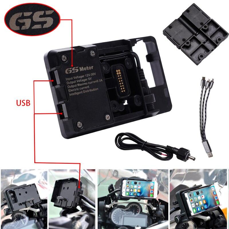 USB Motocicleta Suporte de Navegação Do Telefone Móvel de Carregamento USB Suporte Para R1200GS F800GS ADV F700GS R1250GS CRF 1000L F850GS F750G