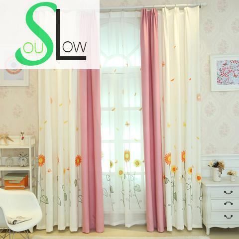 Langsam Seele Sonnenblumen Vorhang Gelb Schlafzimmer Wohnzimmer ...