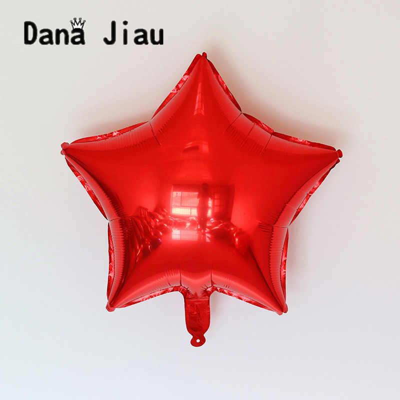 18 นิ้วสีสันวันเกิดงานเลี้ยงงานแต่งงานบอลลูนวันหยุด Pentagram ดาวอัตโนมัติ - seal ฟอยล์บอลลูนผู้จัดจำหน่าย