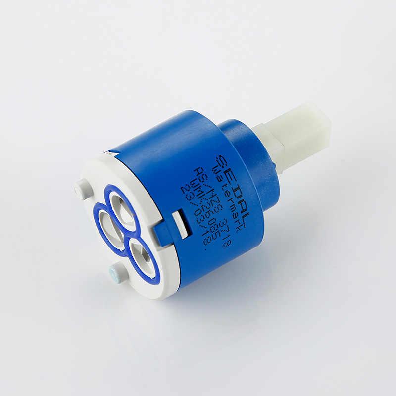 Smesiteli 도자기 수도꼭지 카트리지 40/35/25mm 카트리지 믹서 낮은 토크 수도꼭지 액세서리 스핀들 플랫베이스 무료 회전