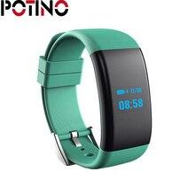 Potino DF30 Smart Браслет браслет bluetooth сердечного ритма Мониторы Приборы для измерения артериального давления Мониторы браслет IP68 Водонепроницаемый часы