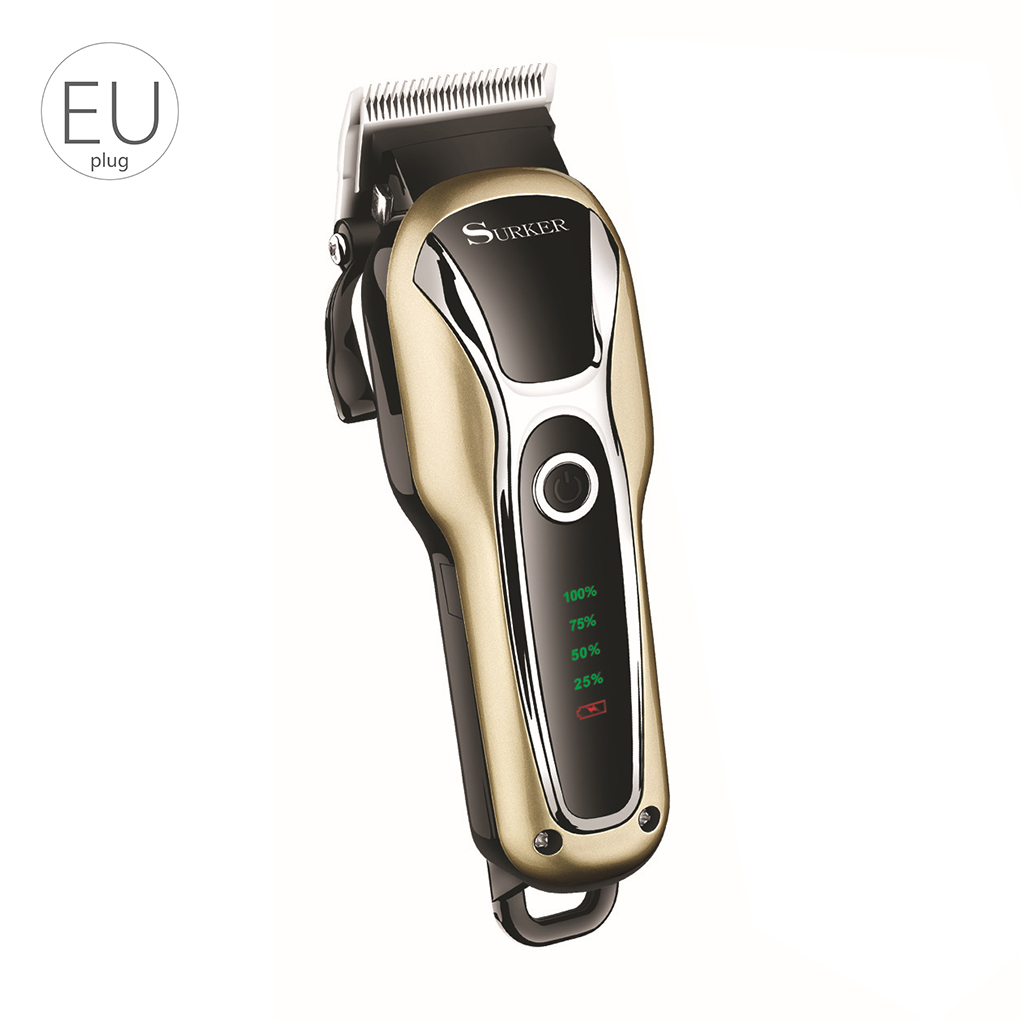 Professional LCD Man Hair Trimmer Rechargeable Mute Hair Clipper Adult Male Cordless Hai ...