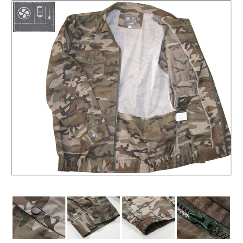 Image 3 - Air Conditioning Clothes Cooling Conditioned Fan Jacket For Outdoor High Temperature Cooling Jackets Working Fishing Hunting-in Safety Clothing from Security & Protection