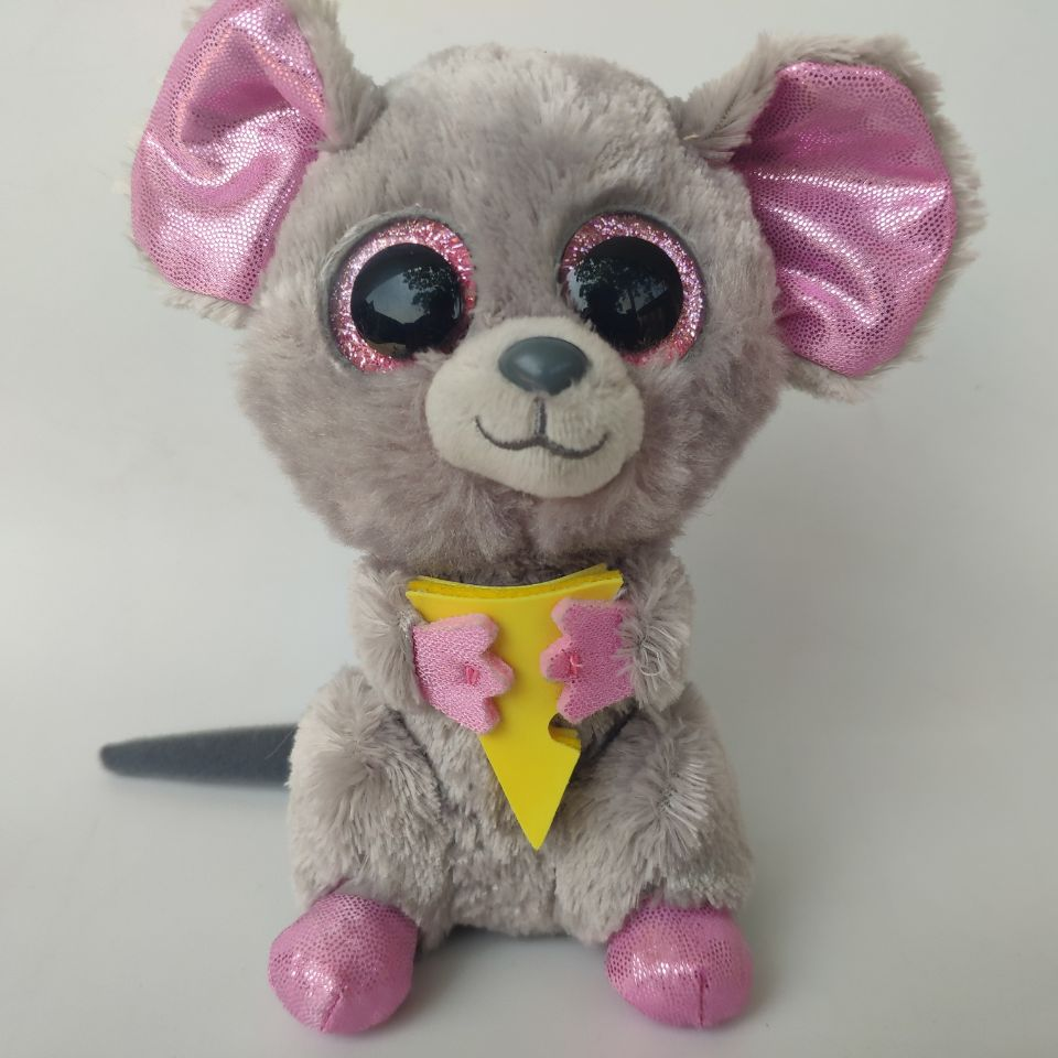 Squeaker the Mouse 15cm TY Beanie Boo Plush