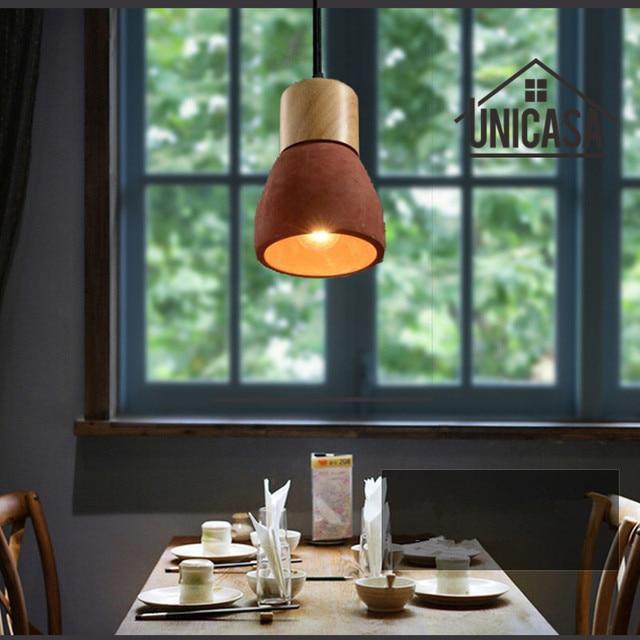 Iluminación industrial lámparas vintage rojo cemento Sombras ...