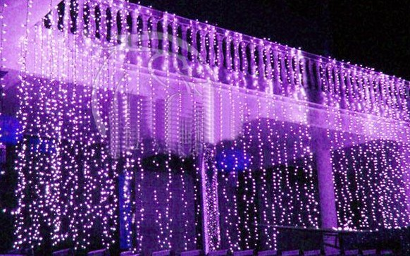 300 Led Window Curtain Icicle Lights String Fairy Light Wedding