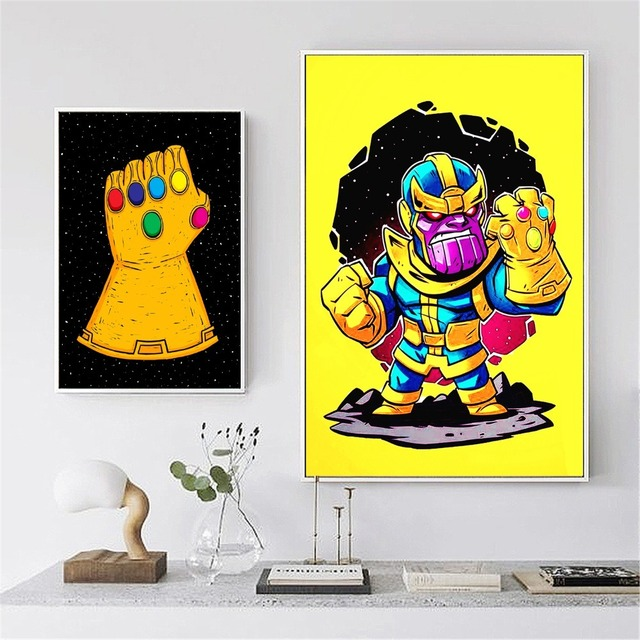 thanos cartoon kids nursery canvas art painting posters and prints