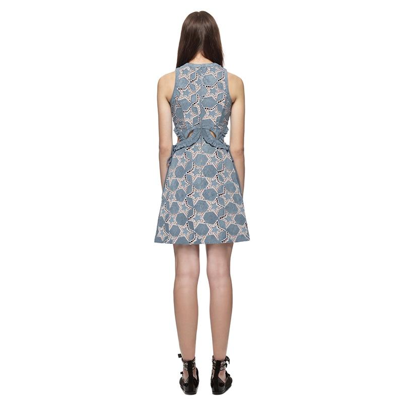 d421b5f601 LALA IKAI Brand Women Dresses Sexy Hollow Out Woman Dress Cutwork Suede  Star Mini Dress Women 2018 Summer Beach Vestidos QWA1063