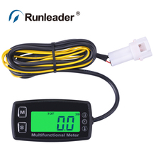 Digital RL-HM035T TS002 PT100 Engine Tachometer Hour Meter thermometer for gas UTV ATV outboard buggy tractor JET SKI paramotor digital backlight hour meter hourmeter tachometer for motocross jet ski atv snowmobile mower outboard chainsaw forklift truck