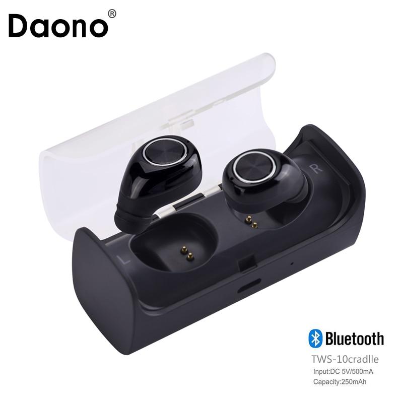DAONO TWS10 Bluetooth Earbuds True Wireless Mini Stereo Earphone with Charging Socket play music Headset