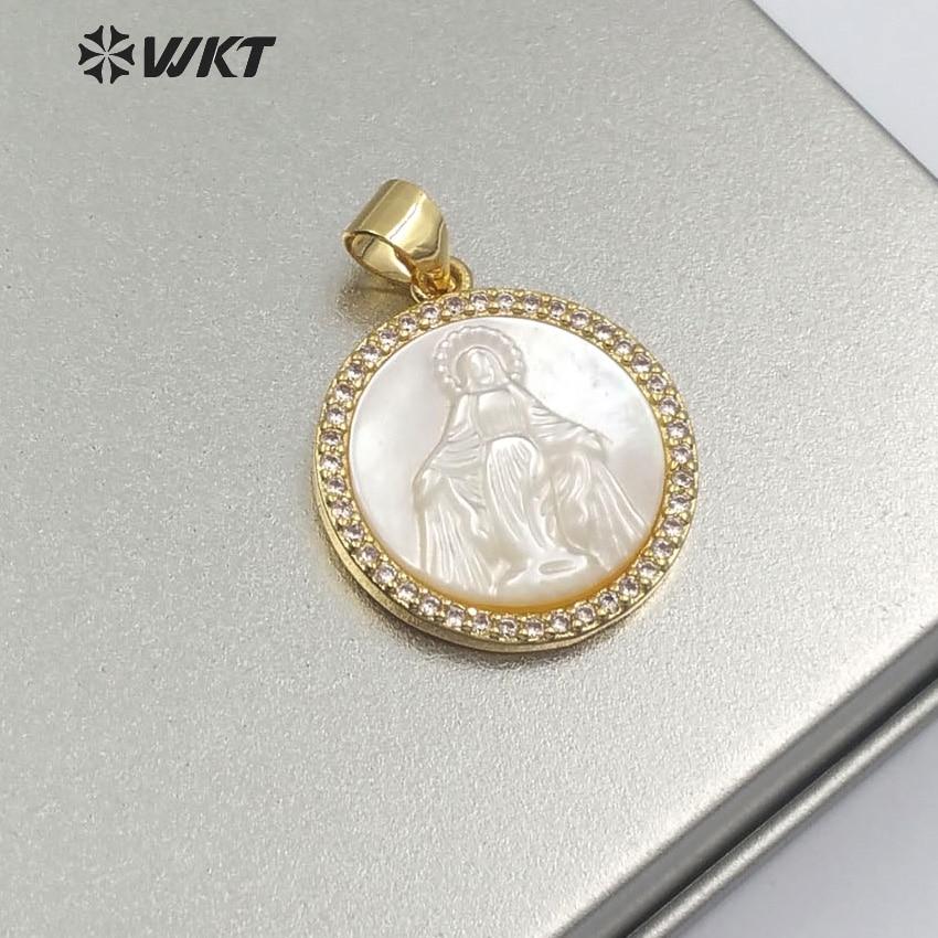 """38/"""" Blanc Perle Baroque Boucle Collier Zircone cubique Pave pendentif"""