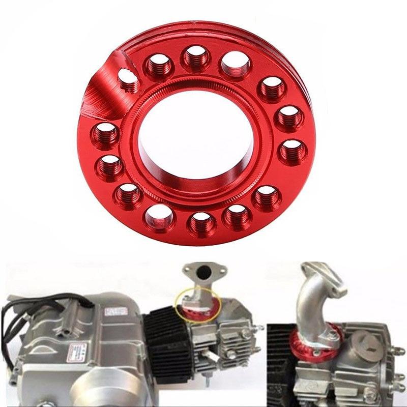 Для велосипед ямы КАРБЮРАТОР впускной коллектор Spinner плиты красный 90cc 110cc 125cc Запчасти