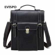 100% Real Genuine Leather men Backpacks Crazy Horse Cowhide School men Strap Laptop Daily Backpack Top Quality Handcraft Bag