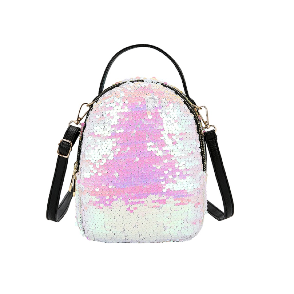 2018 New Mini Sequins Backpack Women School Bags Princess Bling Backpack Bag Small Travel Sequins Backpack Mochila Feminina 2017 new women girl children all match bag pu leather sequins backpack girls small travel princess bling backpacks