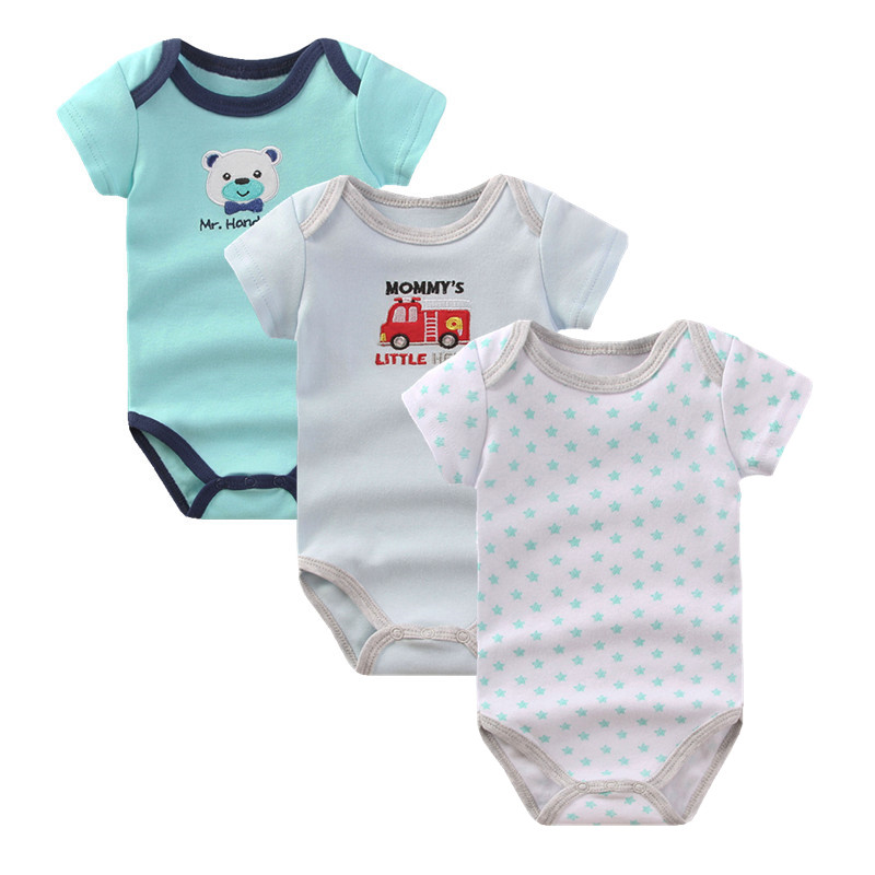 Baby Boys Rompers Clothes Summer Newborn Boy Girl 3 pcs/lot 100% Cotton Short Sleeve Costume Next Body Baby Romper Clothing R-05 newborn baby rompers baby clothing 100% cotton infant jumpsuit ropa bebe long sleeve girl boys rompers costumes baby romper