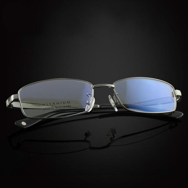 Óculos s8835 100% pure titanium óculos frames homens vidros ópticos quadro miopia óculos de leitura prescrição óculos galsses