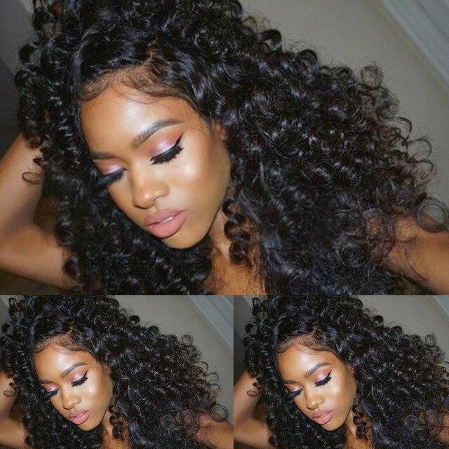 100% Человеческих Волос Парики для Афро-Американцев Камбоджийской Волосы Девственницы бодрый Вьющиеся Природных Дешевые Волос Полный Парик Шнурка Человеческих Волос парики