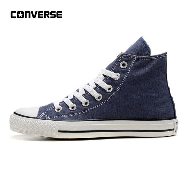Sepatu Converse All Star Pria dan Wanita Tinggi Klasik Unisex Biru Sneakers  Skateboard Sepatu 35- f122d51825