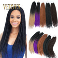 Box Braids Hair Crochet 22inch Crochet Hair Extensions 100g Synthetic Crochet Braid Senegalese Twist Braid Hair Jumbo Hairstyles