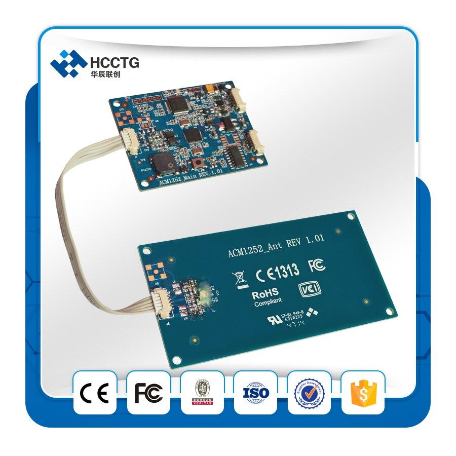 13.56 Mhz Iso18092 ISO 14443 À Puce Sans Contact NFC Kiosque Lecteur de Carte Avec Antenne Détachable Conseil ACM1252U-Y3 - 2