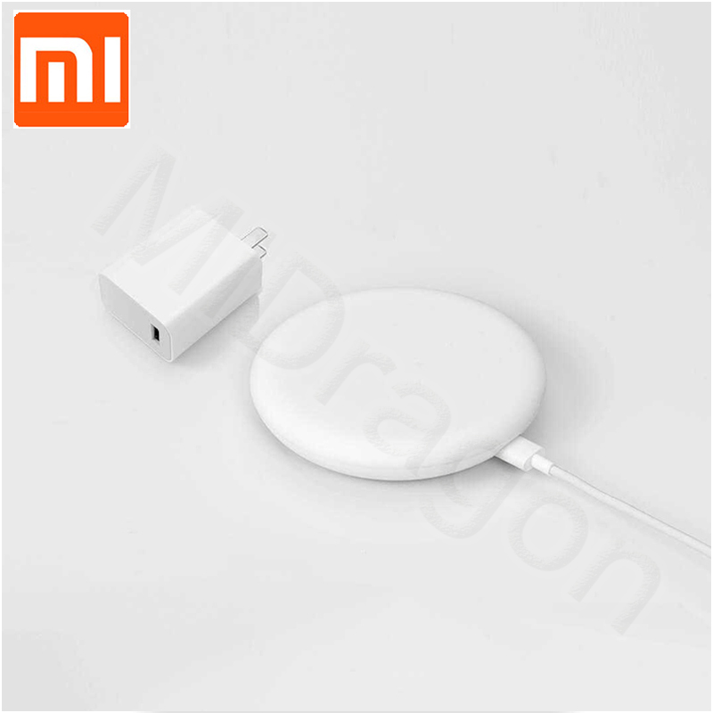27W Plug Original Xiaomi Wireless Charger 20W Max 15V Apply To Xiaomi Mi9 MiX 2S Mix 3 Qi EPP10W For IPhone XS XR XS MAX(China)
