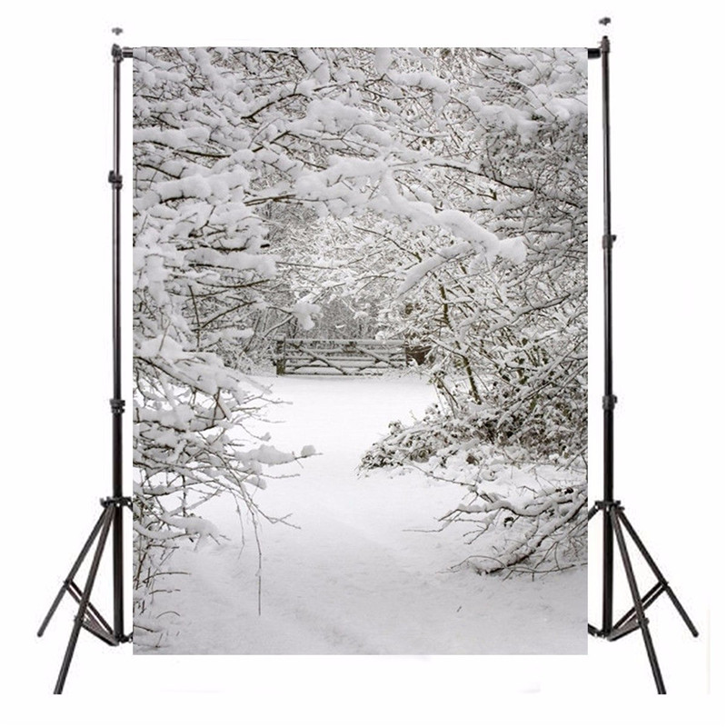 5X7FT Background Vinyl Photography Studio Snow Christmas Theme photographic Backdrop for Studio Photo Prop cloth 1.5x2.1m
