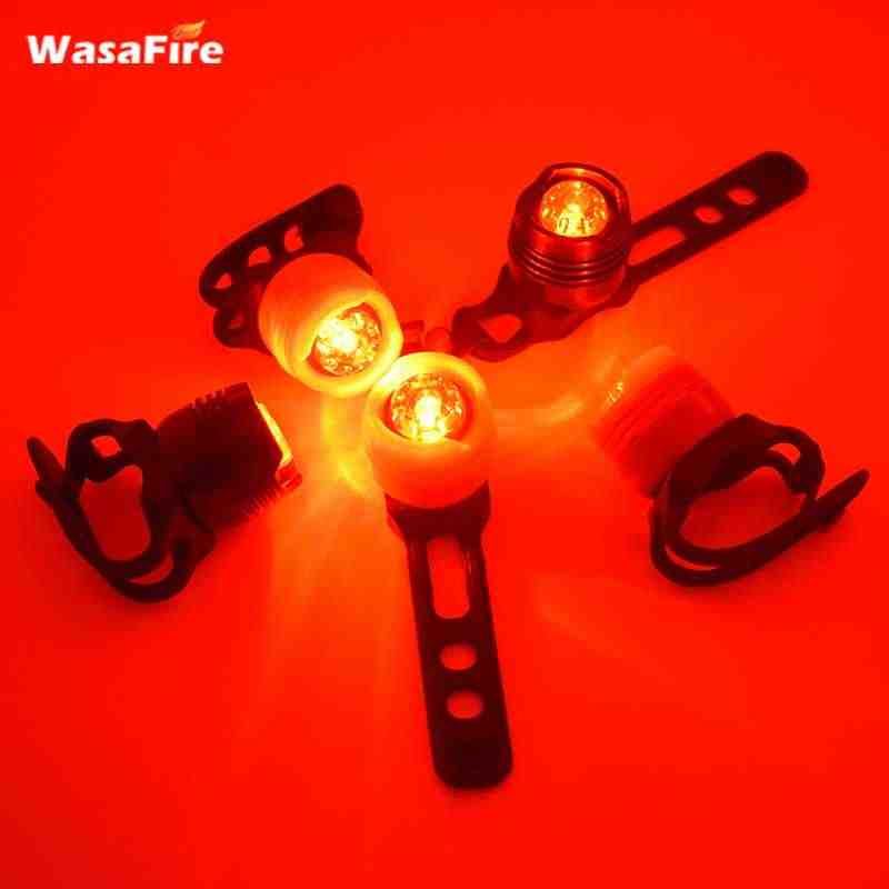 2017 New LED Waterproof Plastic Bicycle Cycling Front Rear Tail Helmet Red Flash Light Warning Lamp Cycling Safety Caution Light