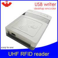 UHF RFID reader kurze reichweite Integrierte Reader usb port desktop rfid tag encoder schriftsteller einfach zu bedienen usb reader rfid kopierer schriftsteller