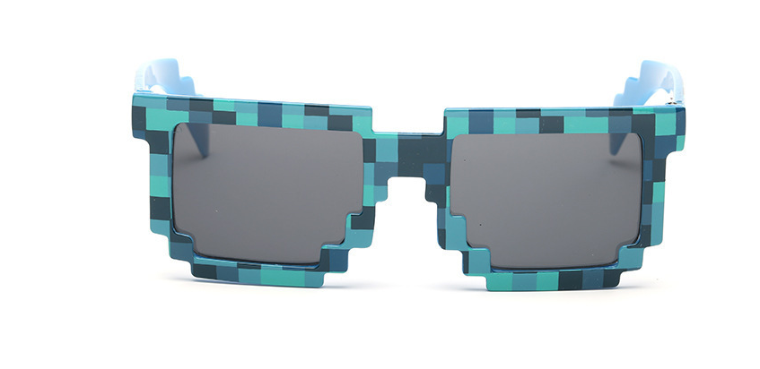 New 4 color! Fashion Minecrafter Sunglasses Kids Action <font><b>Game</b></font> Toys Square <font><b>Glasses</b></font> With EVA <font><b>Case</b></font> Gifts For Men Women For tourism