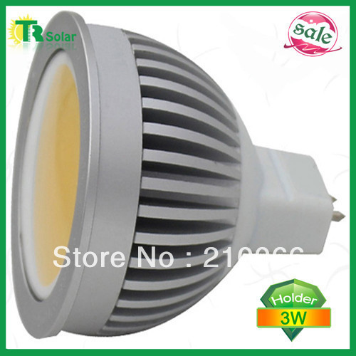 led spot light 3W LED cup lamp, 3W-MR16 COB spot light, 120 degree angle, 12V AC/DC Free shipping (10 pieces/a lot)