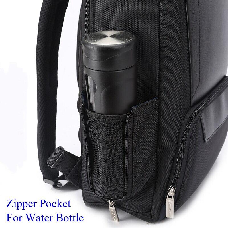 Image 4 - BOPAI 2018 Men Laptop Backpack 15.6 Inch Daily Work Backpack Men  Black Leather Schoolbag High School back pack mochila escolarBackpacks