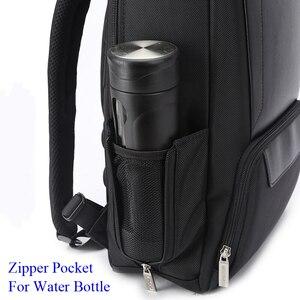 Image 4 - BOPAI 2018 Men Laptop Backpack 15.6 Inch Daily Work Backpack Men Black Leather Schoolbag High School back pack mochila escolar