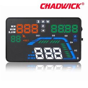 Image 5 - Universel Multi couleur Auto voiture HUD GPS affichage tête haute compteurs de vitesse avertissement de survitesse tableau de bord pare brise projecteur CHADWICK Q7