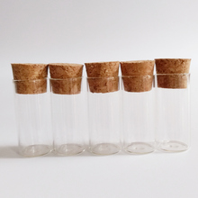 100pcs/lot 3ml test tube with cork 16*35mm clear mini Flat glass bottle Small Drift wishing Decorative