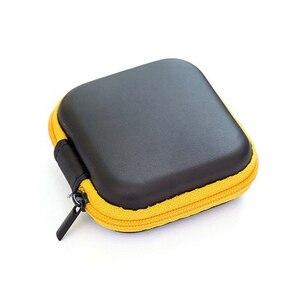 Image 2 - Doitop 미니 지퍼 하드 헤드폰 케이스 pu 가죽 이어폰 보관 가방 휴대용 이어폰 상자에 대 한 보호 usb 케이블 주최자
