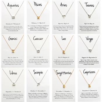 Lucky Eye znak zodiaku 12 konstelacji wisiorek Choker naszyjniki dla kobiet dziewczyna naszyjnik karta życzeń biżuteria EY1545
