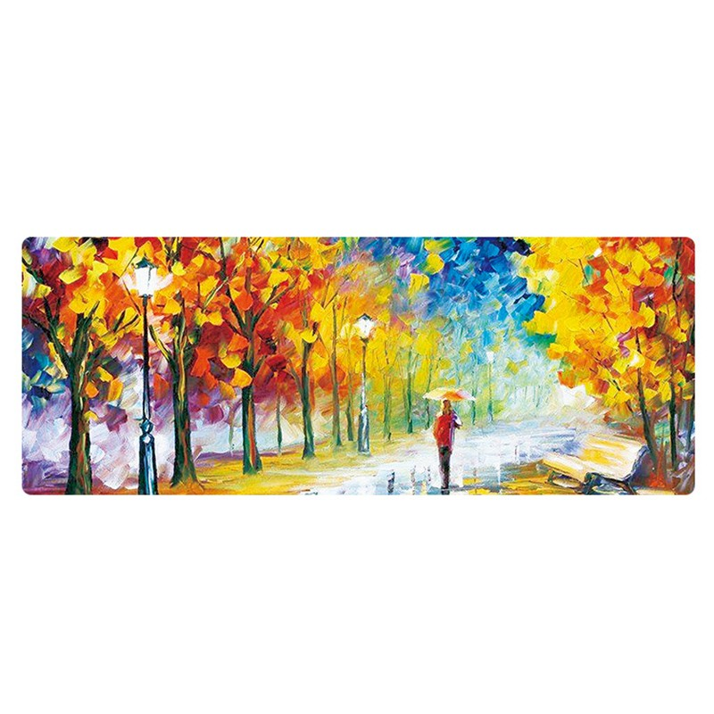 все цены на 2018 hot sale Van Gogh painting mouse pad Big gaming Mouse Pad 800*400*3mm DIY pictures mouse pad gamer mouse pad mat